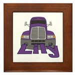 Trucker Lily Framed Tile