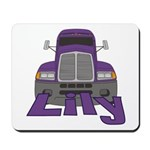 Trucker Lily Mousepad