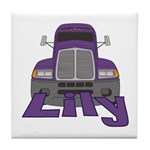 Trucker Lily Tile Coaster