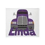 Trucker Linda Throw Blanket