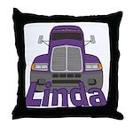 Trucker Linda Throw Pillow