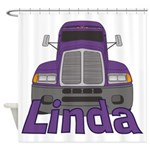 Trucker Linda Shower Curtain