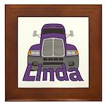 Trucker Linda Framed Tile
