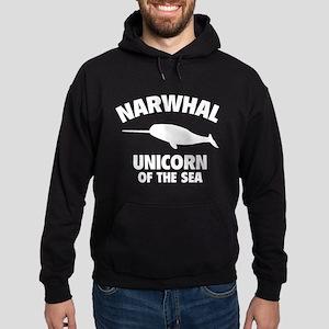 Narwhale Unicorn of the Sea Hoodie (dark)