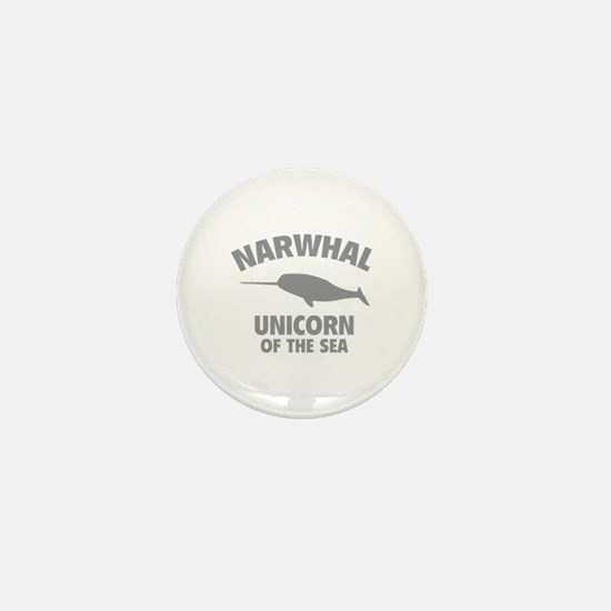 Narwhale Unicorn of the Sea Mini Button
