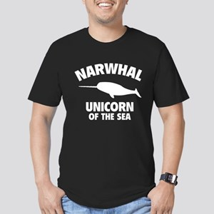 Narwhale Unicorn of the Sea Men's Fitted T-Shirt (