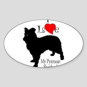 Pyrenean Shepherd Oval Sticker