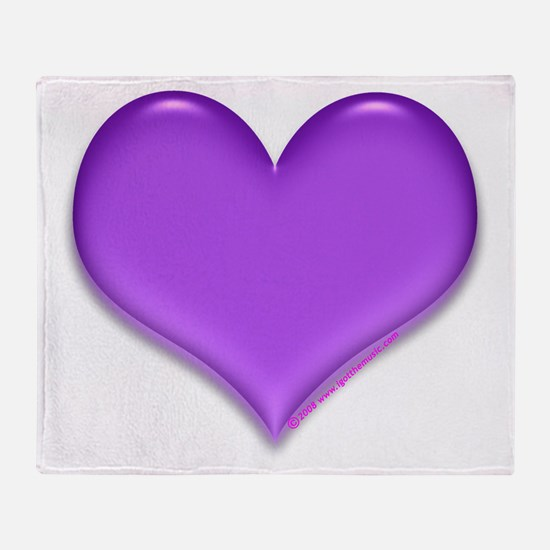 purple heart Throw Blanket