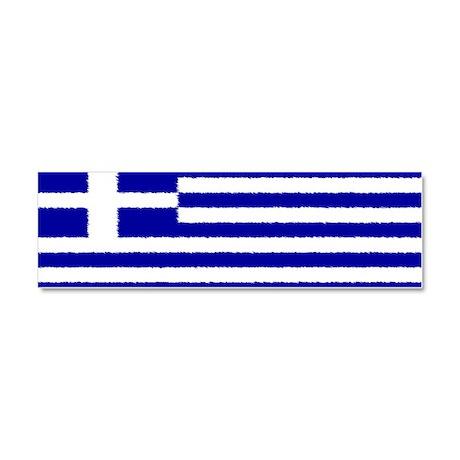 Greek Flag Car Magnet Car Magnet 10 x 3