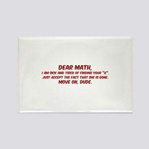 Dear Math Rectangle Magnet