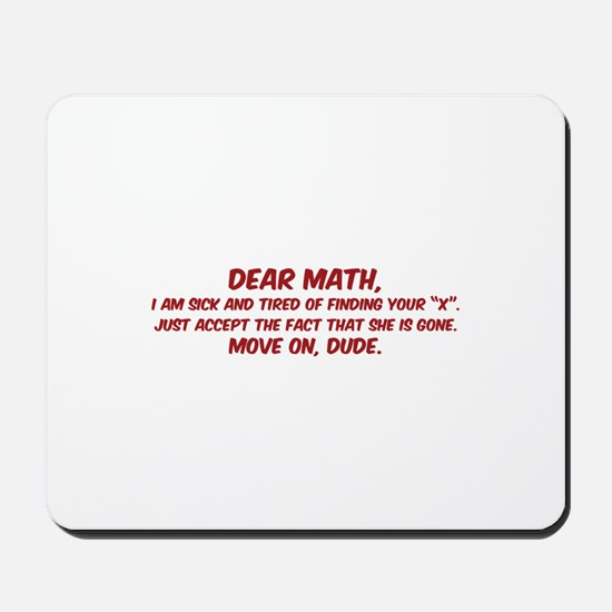 Dear Math Mousepad