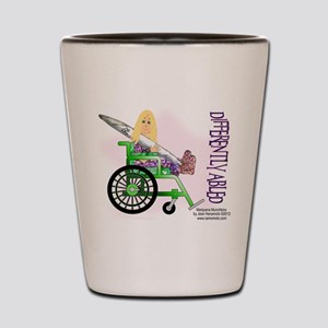 Marijuana Munchkins Differently Abled Shot Glass