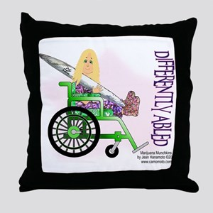 Marijuana Munchkins Differently Abled Throw Pillow