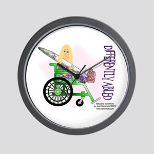 Marijuana Munchkins Differently Abled Wall Clock