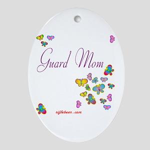 Guard Mom Ornament (Oval)