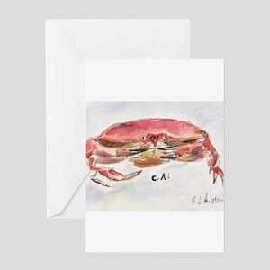 Crab Collage Greeting Card