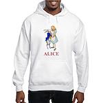 Alice and the White Rabbit Hooded Sweatshirt