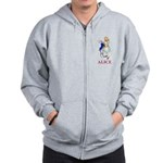 Alice and the White Rabbit Zip Hoodie