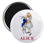 Alice and the White Rabbit Magnet