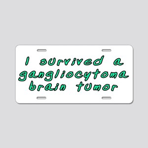 Gangliocytoma brain tumor - Aluminum License Plate