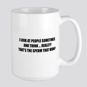 Sperm That Won Large Mug