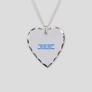 Sperm That Won Necklace Heart Charm