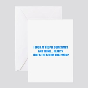 Sperm That Won Greeting Card