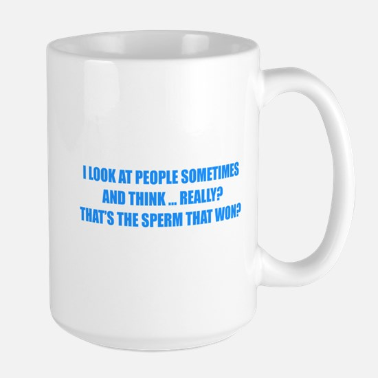Sperm That Won Large Mug