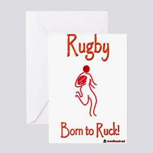 Rugby Born to Ruck 6000 Greeting Card