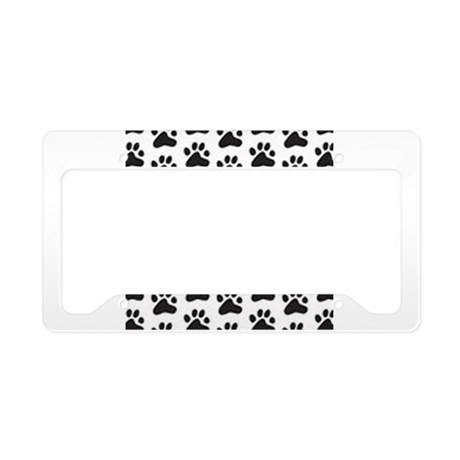 Paw Print Pattern License Plate Holder