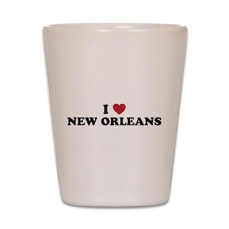I Love New Orleans Louisiana Shot Glass