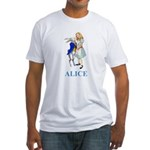 Alice and the White Rabbit Fitted T-Shirt