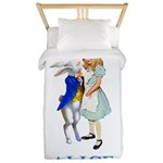 Alice and the White Rabbit Twin Duvet