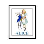 Alice and the White Rabbit Framed Panel Print