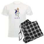 Alice and the White Rabbit Men's Light Pajamas