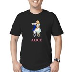 Alice and the White Rabbit Men's Fitted T-Shirt (d
