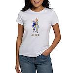 Alice and the White Rabbit Women's T-Shirt