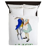 Alice and the White Rabbit Queen Duvet