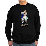 Alice and the White Rabbit Sweatshirt (dark)