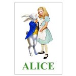 Alice and the White Rabbit Large Poster