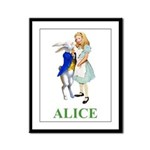 Alice and the White Rabbit Framed Panel Print