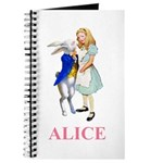 Alice and the White Rabbit Journal