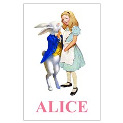 Alice and the White Rabbit Posters