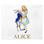 Alice and the White Rabbit King Duvet