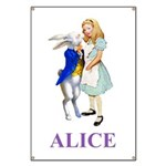 Alice and the White Rabbit Banner