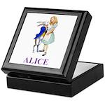 Alice and the White Rabbit Keepsake Box