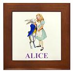 Alice and the White Rabbit Framed Tile
