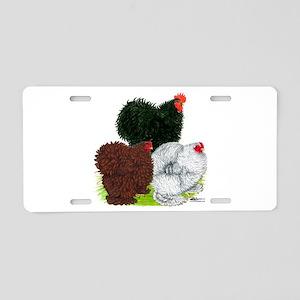 Frizzle Cochin Trio Aluminum License Plate