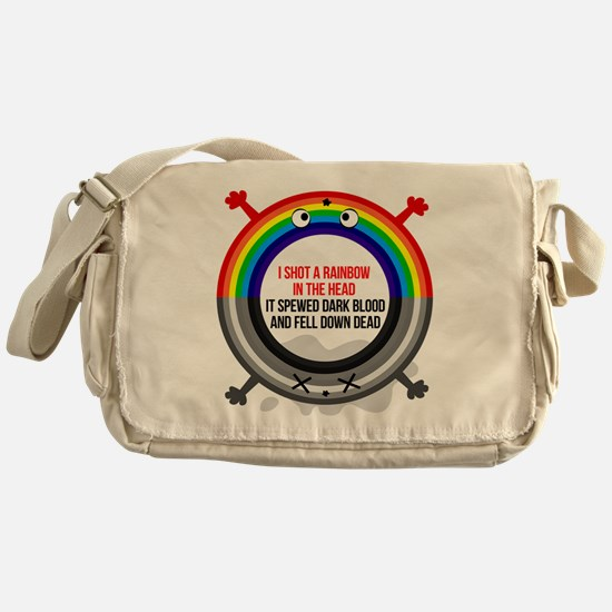 I shot a rainbow Messenger Bag