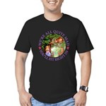 We're All Quite Mad, Y Men's Fitted T-Shirt (dark)